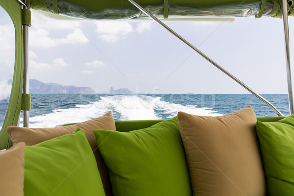 ocean view from board of sailing boat or yacht Stock photo © dolgachov