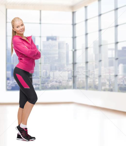 Belle jeune femme sport fitness personnes Photo stock © dolgachov