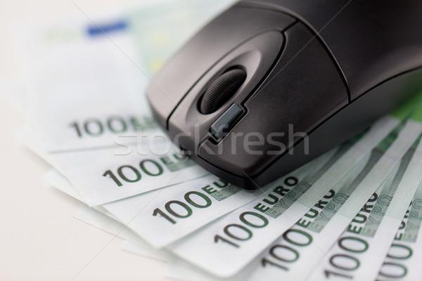 Компьютерная мышь евро наличных деньги бизнеса Сток-фото © dolgachov