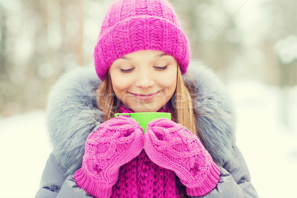 Сток-фото: улыбаясь · Кубок · зима · лес · сезон