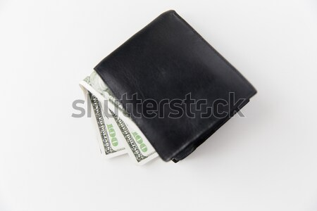 Dollar argent noir portefeuille table Photo stock © dolgachov
