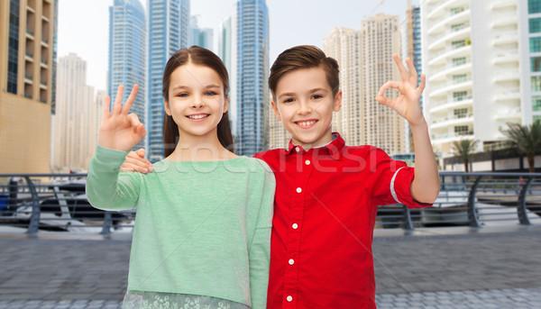 девушки вызывать рукой знак детство Сток-фото © dolgachov