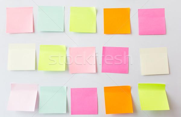 Puste papieru naklejki działalności informacji Zdjęcia stock © dolgachov
