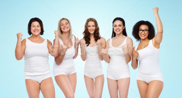 Stock fotó: Csoport · boldog · különböző · nők · ünnepel · győzelem