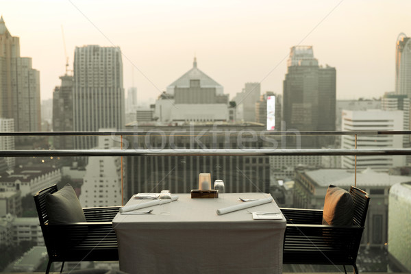 restaurant lounge at hotel in bangkok city Stock photo © dolgachov