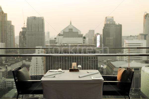 Restaurant Lounge Hotel Bangkok Stadt Reise Stock foto © dolgachov