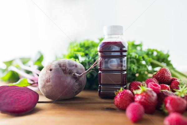 ボトル ビートの根 ジュース 果物 野菜 健康的な食事 ストックフォト © dolgachov