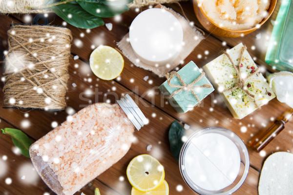 自然 身體 關心 化妝品 木 商業照片 © dolgachov