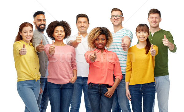 international group of people showing thumbs up Stock photo © dolgachov