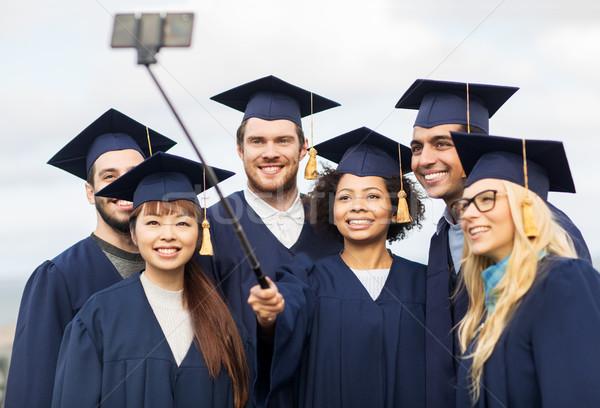 学生 独身 スマートフォン 教育 卒業 ストックフォト © dolgachov