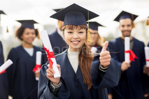 Photo stock: Heureux · élèves · éducation · graduation