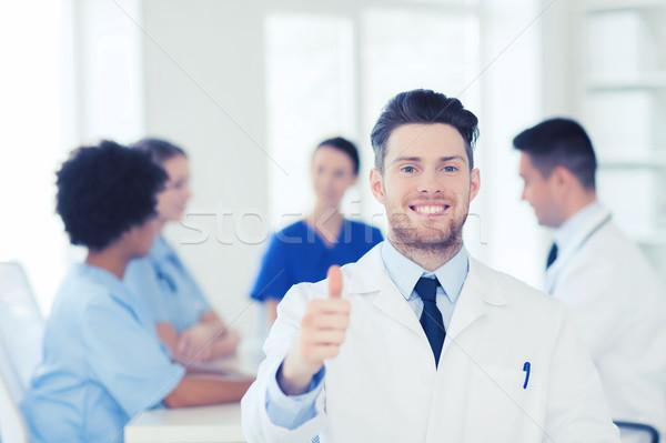 Zdjęcia stock: Szczęśliwy · lekarza · grupy · szpitala · kliniki · zawód