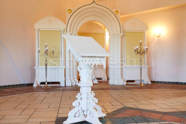 stand at orthodox church Stock photo © dolgachov