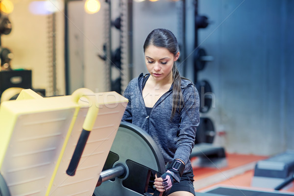 ногу прессы машина спортзал фитнес Сток-фото © dolgachov