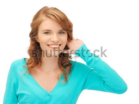 teenage girl listening gossip Stock photo © dolgachov