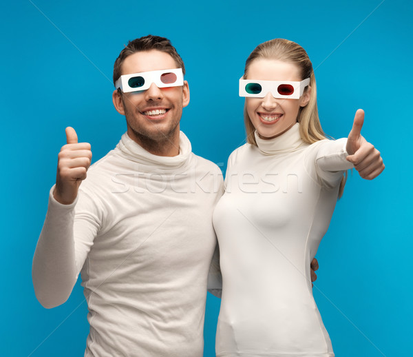Сток-фото: человека · женщину · 3d · очки · девушки