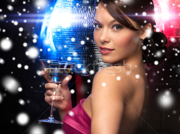woman with cocktail Stock photo © dolgachov