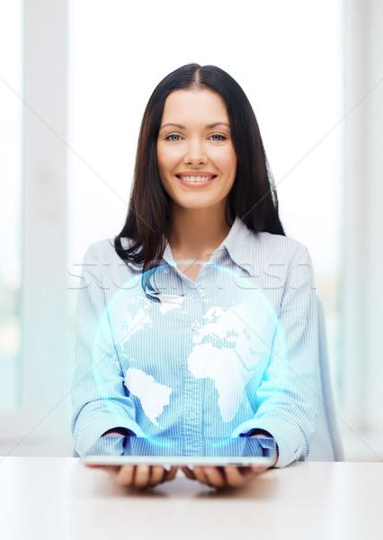 Işkadını dünya iş yeni teknoloji Stok fotoğraf © dolgachov
