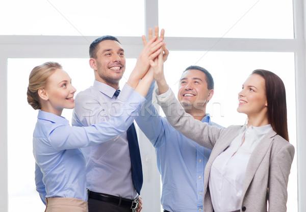 Mutlu iş ekibi ofis başarı iş Stok fotoğraf © dolgachov