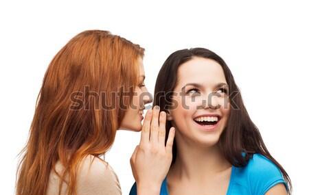 Egy lány másik titok barátság boldogság emberek Stock fotó © dolgachov