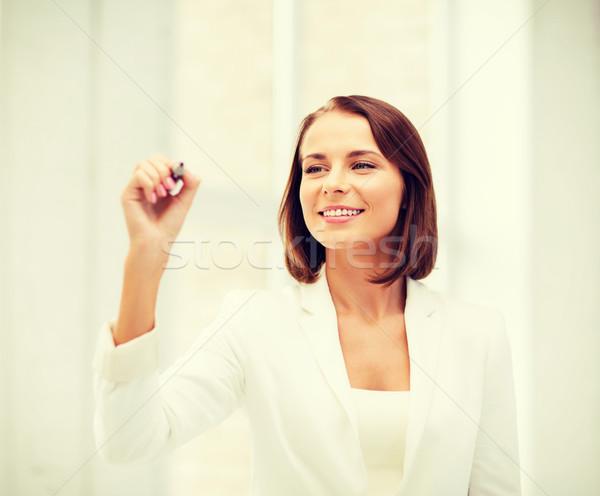 üzletasszony ír levegő üzlet jövő technológia Stock fotó © dolgachov