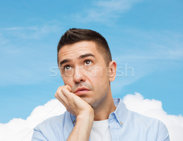 Triste emociones personas cielo azul nube Foto stock © dolgachov