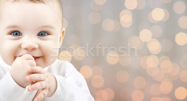 beautiful happy baby Stock photo © dolgachov