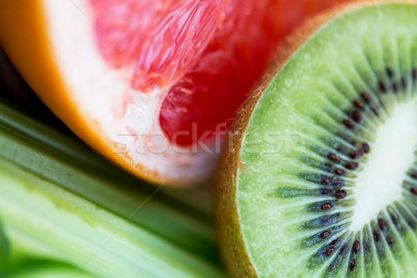 зрелый киви грейпфрут Ломтики диета Сток-фото © dolgachov