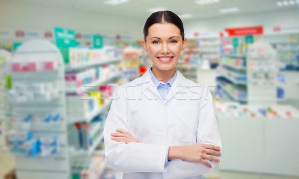 young woman pharmacist drugstore or pharmacy Stock photo © dolgachov