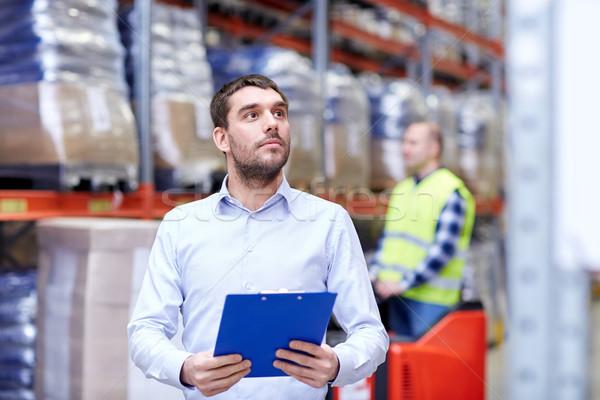 Affaires presse-papiers entrepôt affaires exporter Photo stock © dolgachov