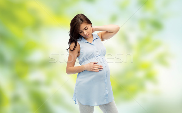 妊婦 妊娠 健康 人 期待 触れる ストックフォト © dolgachov