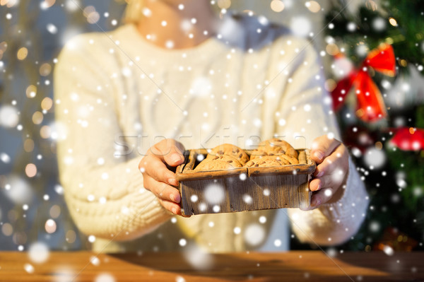 Femme avoine cookies maison Noël Photo stock © dolgachov