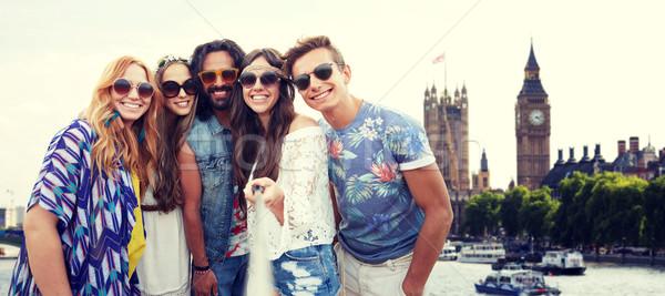 Feliz hippie amigos vara férias de verão viajar Foto stock © dolgachov