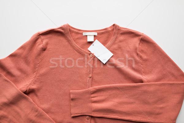 Cardigã preço membro roupa desgaste Foto stock © dolgachov