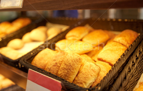 close up of pies at bakery or grocery store Stock photo © dolgachov
