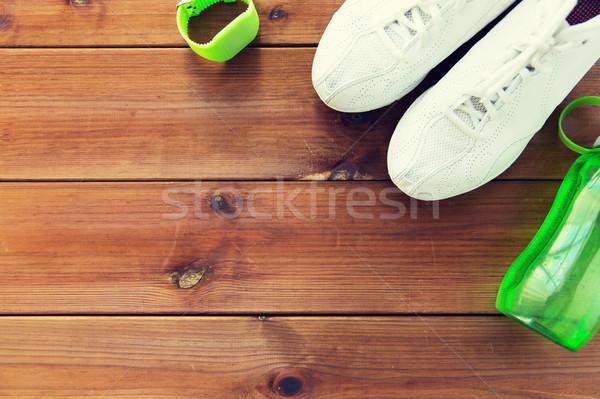 Armband veldfles sport fitness Stockfoto © dolgachov