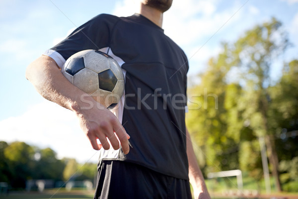 close up of soccer player on football field Stock photo © dolgachov