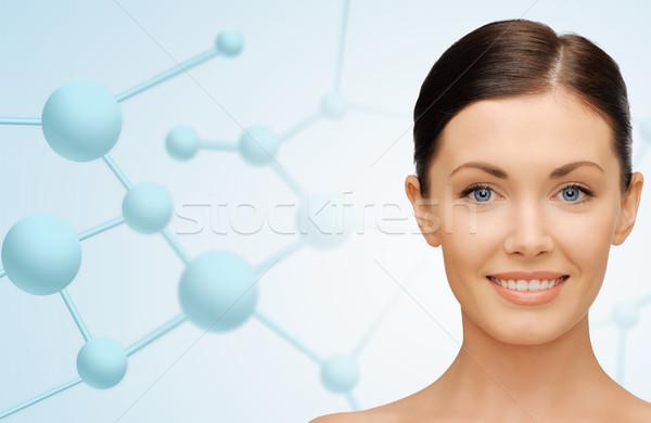 Hermosa cara moléculas belleza personas Foto stock © dolgachov