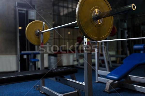 веса скамейке штанга спортзал спорт фитнес Сток-фото © dolgachov