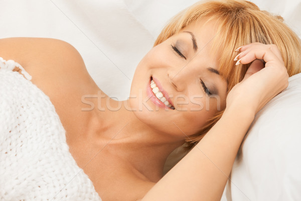 sleeping woman Stock photo © dolgachov