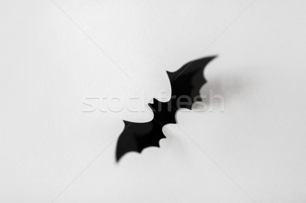 halloween decoration of black bat on white Stock photo © dolgachov