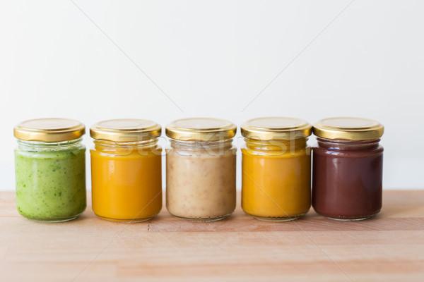 Vegetali frutta alimenti per bambini nutrizione vetro Foto d'archivio © dolgachov