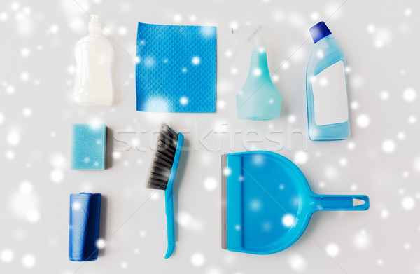 cleaning stuff on white background Stock photo © dolgachov