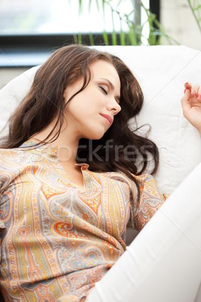 sleeping woman at home Stock photo © dolgachov