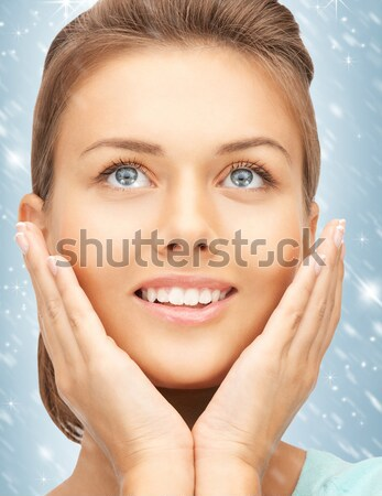 woman showing hands with polished nails Stock photo © dolgachov