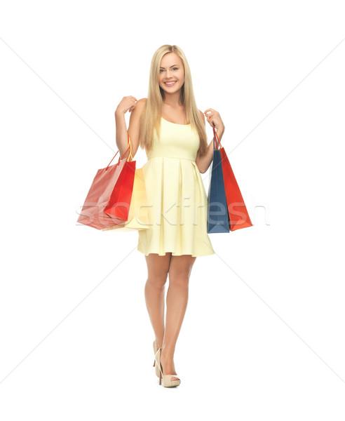 Vrouw jurk foto elegante Stockfoto © dolgachov