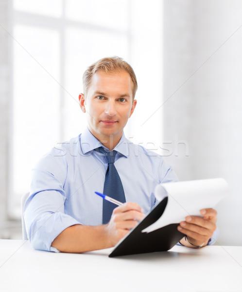 businessman taking employment inteview Stock photo © dolgachov