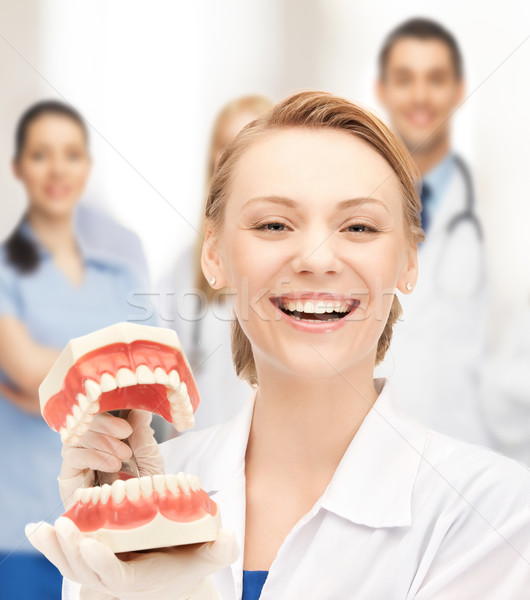 doctor with big jaws Stock photo © dolgachov