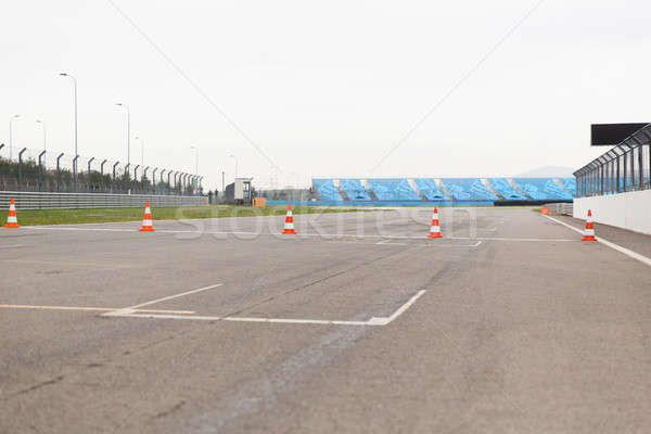 empty speedway on stadium Stock photo © dolgachov