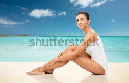 beautiful woman touching her hips Stock photo © dolgachov